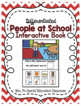Differentiated People  at School Interactive Book