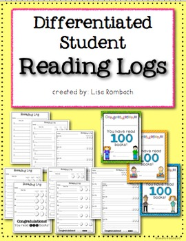 Differentiated Reading Logs for beginning readers
