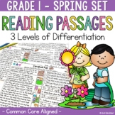 Differentiated Reading Passages Spring Grade 1 {Limited Ti