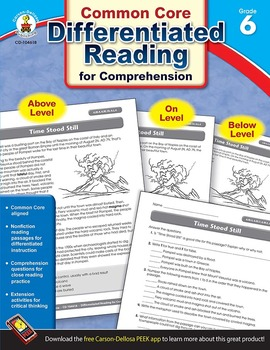 Differentiated Reading for Comprehension Grade 6 SALE 20%