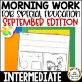 Special Education Morning Work: September Edition {Differe