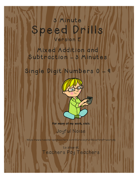 Differentiated Speed Drill Version E (Mixed Addition and S