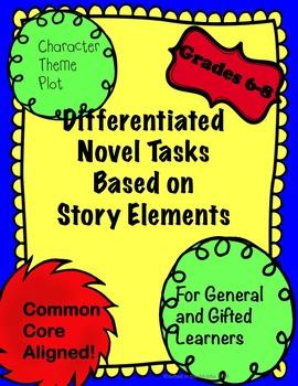Differentiated Story Element Novel Tasks for Regular Ed an