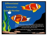 Differentiated Subtraction (color by number)