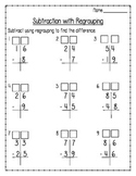Differentiated Subtraction with Regrouping Test