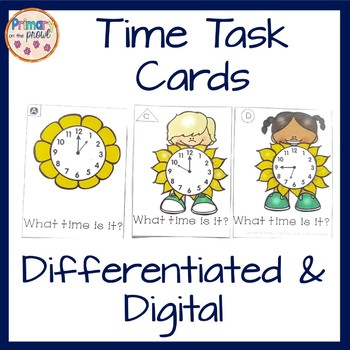 Differentiated Task Cards- Time to the Hour, Half-Hour, Qu
