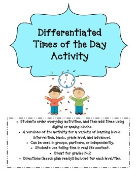 Differentiated Times of the Day Activity
