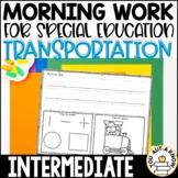 Special Education Morning Work: Transportation Edition {3