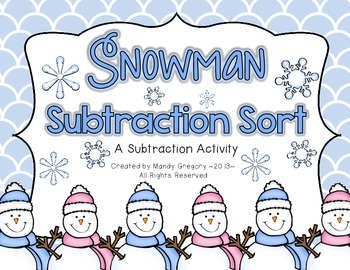 Differentiated Two Digit Subtraction Center