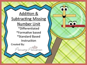 Differentiated Unit Addition and Subtraction with Missing