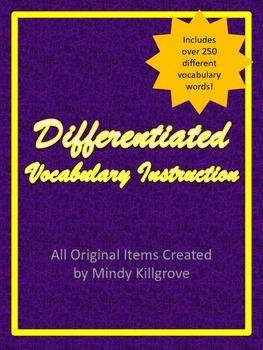 Differentiated Vocabulary Instruction
