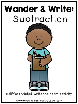 First Grade SCOOT Game: Subtraction