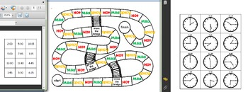 Differentiated What's The Time Game and Game Board