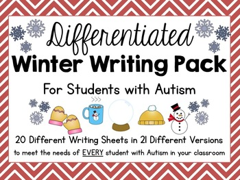 Differentiated Winter Writing Pack for Students With Autis