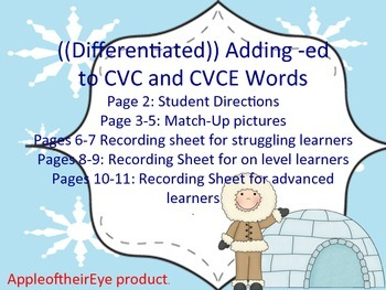 Differentiated Word Work Centers: Adding -ED