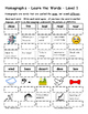 Differentiated Word Work & Vocabulary Packet - Homographs
