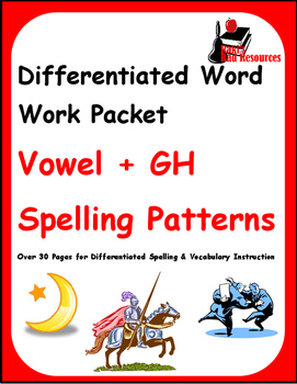Differentiated Word Work & Vocabulary Packet - Silent GH
