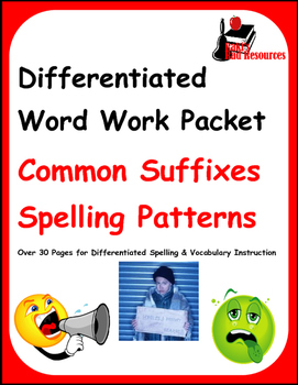 Differentiated Word Work & Vocabulary Packet - Suffixes