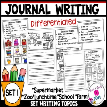 Differentiated Writing Prompts for Kindergarten Journal Writing