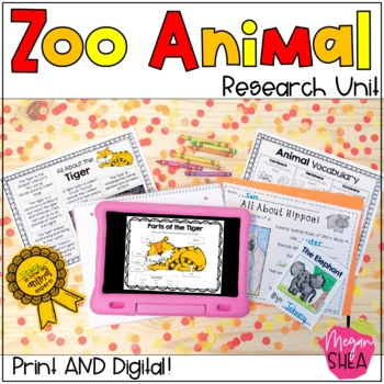 Differentiated Zoo Animal Research Unit for Kindergarten o