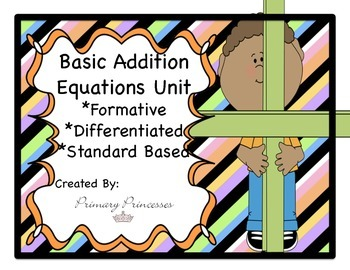 Differentiated f\Formative Based Basic Addition Unit K-1st