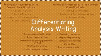 Differentiating Analysis Writing