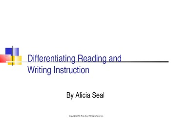 Differentiating Reading and Writing Instruction