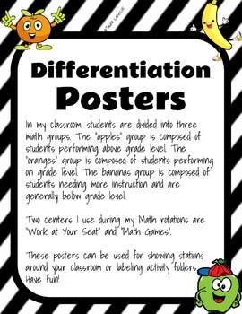 Differentiation Posters