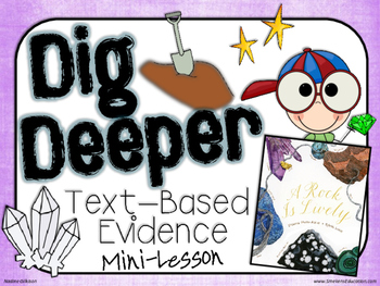 Dig Deeper Text Evidence Gameboard