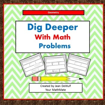 Dig Deeper with Math Problems-Geometry Grade 6