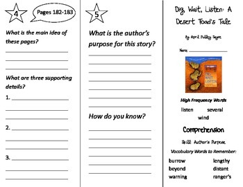 Dig Wait Listen: A Desert Toad's Tale Trifold - Treasures