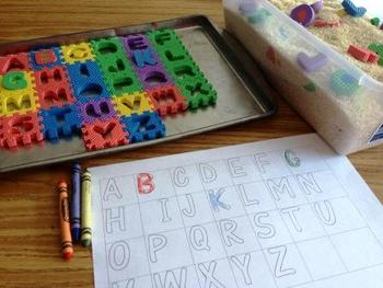 Dig for Letters and Color the Letters Kindergarten Literac