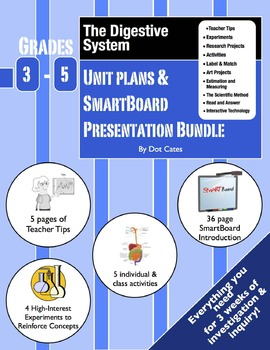 Digestive System Intro!  3-Week Lesson Plans & SmartBoard