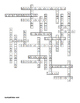 Digestive System and Food Vocabulary Crossword for Middle