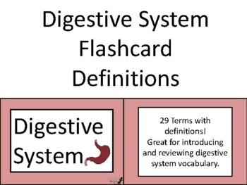Digetive System Flashcard Definitions!