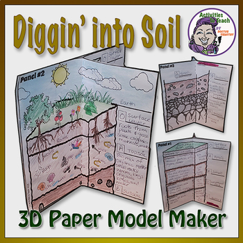 Diggin' Deep in the Soil - 3D Model Foldable Project for Students