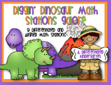 Diggin' Dinosaur Math Stations Galore-Differentiated and A