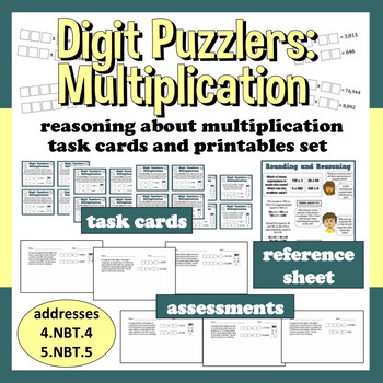 Digit Puzzlers: Multiplication reasoning about multiplicat