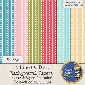 Digital Background Papers - Lines and Dots Shabby
