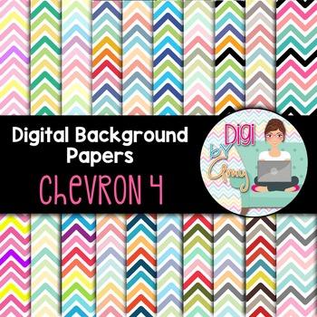 Digital Background clipart - Scrapbook Pack - Chevron 4