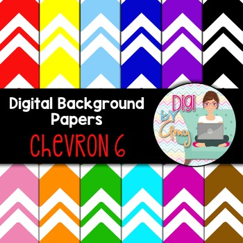 Digital Background clipart - Scrapbook Pack - Chevron 6