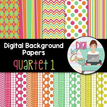 Digital Background - Scrapbook Pack - Quartet 1