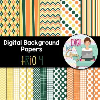Digital Background - Scrapbook Pack - Trio 4