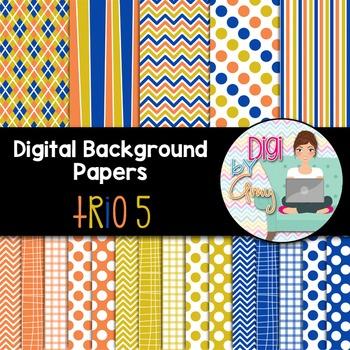 Digital Background - Scrapbook Pack - Trio 5