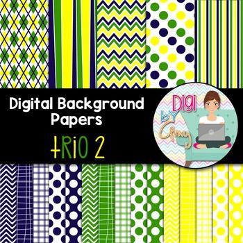 Digital Background - Scrapbook Pack - Trio 2
