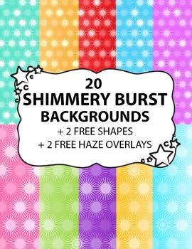 Digital Background Shimmery Bursts