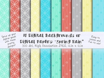 Digital Backgrounds, Clip Art, Digital Papers to use for y