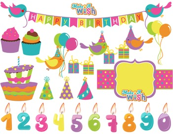Digital Birthday Clip Art Birthday Bird Birthday Banner Ca