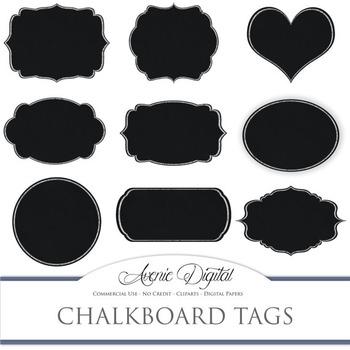 Chalkboard tags clip art Scrapbook printables, blackboard
