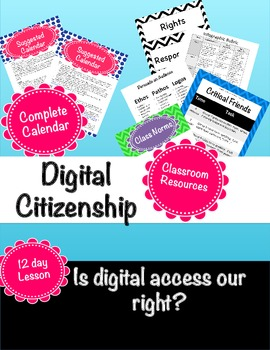 Digital Citizenship: Is digital access a right? (PBL)